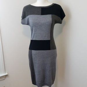 The Limited : 50% Wool Shades of Grey Dress